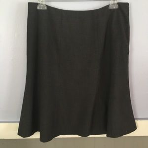 Calvin Klein solid gray A-line work skirt size 12
